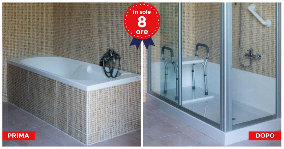 Trasformazione vasca in doccia trasformare vasca in - Sostituire la vasca da bagno ...