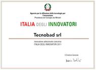 Attestato Italia Innovatori per Tecnobad