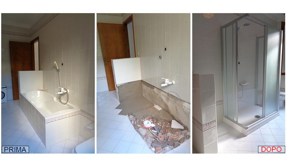 Trasformazione vasca doccia